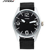 SINOBI Males Sports Wrist Watches Outdoor Nylon Strap For Mens Luxury Top Brand Watch Military Quartz Clock Boys 2016