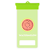 Cartoon Watermelon Seed Pattern Mobile Phone Waterproof Bag for iPhone 7 6s 6 Plus