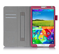 For Samsung Galaxy Case Card Holder / with Stand / Flip Case Full Body Case Solid Color PU Leather Samsung Tab S 8.4
