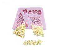 3D три отверстия Цветы Shaped силиконовый Плесень Фондант Пресс-формы Сахар Ремесло Инструменты Шоколад Плесень на торты
