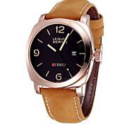 CURREN® Men's Military Watch Japanese Quartz Leather Strap