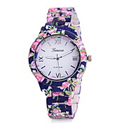 Women's Ladies Fashion Printing Watches Quartz Watch Rubber Band
