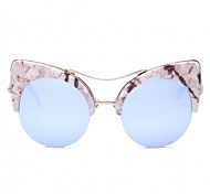Sunglasses Women's Modern / Fashion Cat-eye Silver / Gold Sunglasses Full-Rim