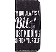 Finger Bitch Painted PU Phone Case for iphone5SE