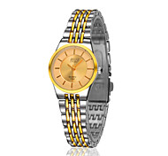 Lady's Gold Steel Band Anlog Quartz Japan PC Dress Watch Jewelry Cool Watches Unique Watches