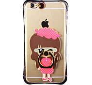 Glow in the Dark Small Town Girl with Hand Ring and Strap PC Back Case for iphone6/6s