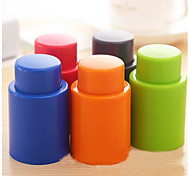 Push Silicone Vacuum Sealed Wine Champagne Bottle Stopper Bar Tools(Random Color)