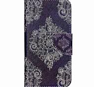 padrão de couro caso suporte do telefone carteira cruz por Wiko arco-íris up - flores retro