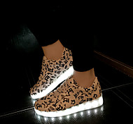Women's LED Shoes USB charging Leatherette Fashion Sneakers Outdoor/Athletic/Casual Blue