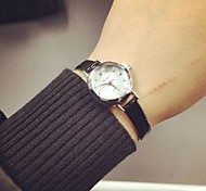 Thin leather belt ladies watches