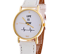 Women's Watch,Geneva Watch,Watch letter Life Is Now Word watch leather Quartz watch,Unisex watches Cool Watches Unique Watches