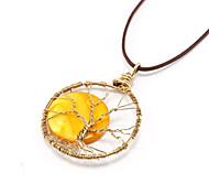 Yellow sun handmade necklace
