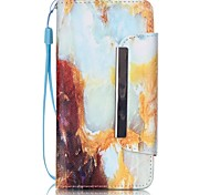 For Samsung Galaxy Case Card Holder / with Stand / Flip / Magnetic / Pattern Case Full Body Case Marble PU Leather Samsung A3(2016)