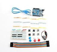 botón de cable de puente nuevo kit de inicio Uno R3 de mini tablero llevado a Compatile Arduino
