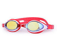 WAVE Swimming Goggles Women's / Men's / Unisex Anti-Fog / Adjustable Size Silica Gel PC Gray Red / Pink