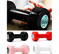 1 Pc LED display Dumbbell Home Supplies Creative Lazy Sport Design Alarm Clock Dumbbell Alarm Clock