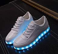 Women's LED Shoes USB charging Leatherette Fashion Sneakers Outdoor/Athletic/Casual Gold