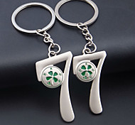 A Pair  Romantic Chinese Valentine'S Day 77 Lovers Keychain Clovers Couples Key Chain