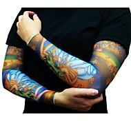 половина рукава татуировки для мужчин 2016 года нового прибытия задействуя манжета митенки ВС воздухопроницаемость упругая велосипеда