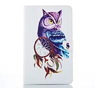 Cartoon-Stil gute Qualität PU-Leder-Folio-Kasten für Samsung Galaxy Tab e 9.6 / Tab 9.7 / Tab 4 7.0