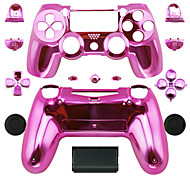 Replacement Controller Case for PS4 Controller PS4 Case Plating Pink/Red/Purple