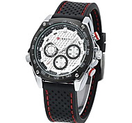 Men's Military Design Casual Watch Japanese Quartz Water Resistant Rubber Strap Cool Watch Unique Watch