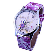 Women'S Watches Simple Love Watches Ecg Leather Watch Love Pattern Leather Watch Student Watch  Gift Idea