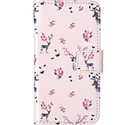 Deer Pattern Embossed PU Leather Case for iPod Touch5