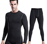 Hombres Mangas largas Carrera / Running Pantalones/Sobrepantalón Ropa de Compresión Medias/Mallas LargasSecado rápido Reductor del Sudor