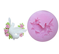 One Holes Pigeon Silicone Mold Fondant Molds Sugar Craft Tools Resin flowers Mould Molds For Cakes