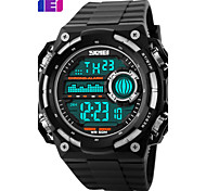 Men's Women's Unisex Sport Watch LCD Calendar Chronograph Water Resistant / Water Proof Dual Time Zones Sport Watch Digital PU Band