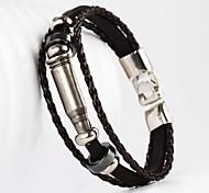balle forme pu bracelet pour hommes