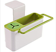Sink Caddy Self Draining with Brush Holder-- Konsait Kitchen Sink Organizer