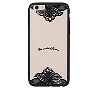 New Black Edge Silk Pattern Sexy Lace Cell Phone Shell for iPhone6/iPhone 6s(Assorted Colors)