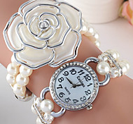 Ladies' Watch Summer Pearl Bracelet Watch Set Auger Dial Alloy Watch Cool Watches Unique Watches