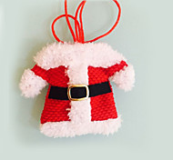 2 Stück Weihnachtsschmuck Happy Santa silber Halter Taschen Abendessen Dekor festas