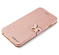 Luxury Fashion Butterfly Built-in Card Slot Silk Pattern Stand Flip Leather Case for iPhone 6s 6 Plus