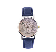 Vintage World Map Watches Unisex World Map Style Watch Ladies Watch Women Leather Quartz Wristwatch Cool Watches Unique Watches
