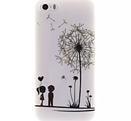 Couple Dandelion Design IMD+TPU Back Cover Case iPhone SE iPhone 5 iPhone 5S