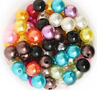 beadia 64g (приблизительно 300pcs) абс жемчуг 8мм круглый 15 цветов U-выбор пластиковых свободные шарики DIY аксессуары