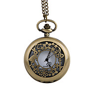 Unisex Pocket Watch Creative Bronze Filigree Clamshell Classic Pocket Watch Cool Watches Unique Watches