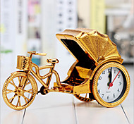 Creative Retro Rickshaw Alarm Desktop Decoration Plastic Bedside Clock