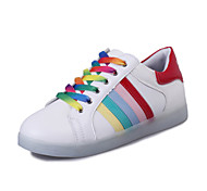 Women's / Girl's Spring / Summer / Fall Round Toe Leatherette Outdoor / Casual / Athletic Flat Heel Lace-up White