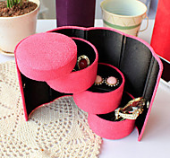 Three-cylinder Velvet Jewelry Storage Box