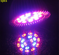 5pcs 5w e27 18xsmd5730 200lm 12red + 6blue spectre complet led grow lumières (85-265V)