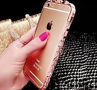 Luxuxdiamante Metallstoßdämpfer für iphone 6 / iphone 6 Plus