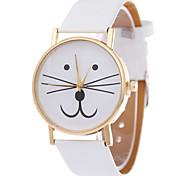 Women's Moustache Design PU Band Analog Quartz Wrist Watch(Brown) Cool Watches Unique Watches