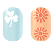White/Orange Hollow Nail Stickers