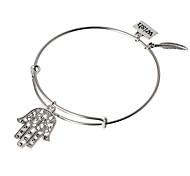 HUALUO®European and American retro steel ring bracelet bracelet Ms. wild palm Bracelet