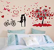 Wall Stickers Wall Decals, Romantic Lovers Tree PVC Wall Sticker